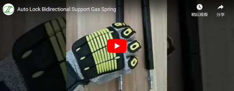 Auto Lock Bidirectional Support Gas Spring