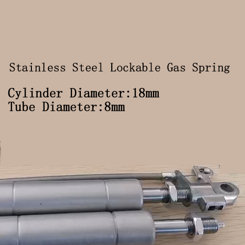 Stainless Steel Lockable  Gas Spring In 316